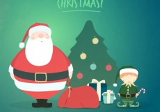 Free vector Cute merry christmas illustration background #26287