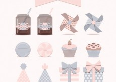 Free vector Cute party icons collection #25529