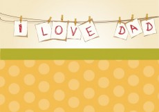 Free vector Dad's day greeting #28110