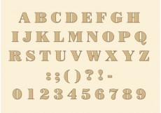 Free vector Didone Font Vector #28023