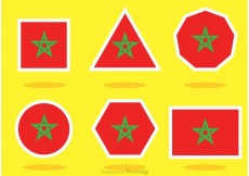 Free vector Different Shaped Morocco Flag Vectors #23114