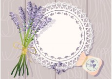 Free vector Doily with Lavender Background Vector #21887