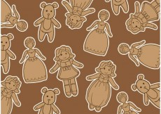 Free vector Doll Vector Background #24044