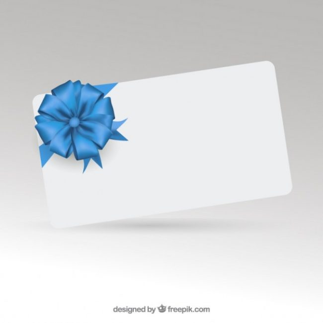 Free vector Elegant gift card with ribbon  #22626