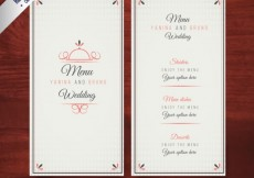 Free vector Elegant wedding menu template #20319