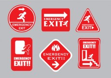 Free vector Emergency Escape Sign Vectors #25074