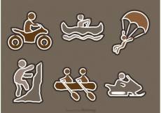 Free vector Extreme Sport Icons Vectors #22345