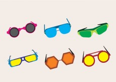 Free vector Fashionable 80s Sunglasses #26764