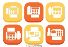 Free vector Fax Flat Icons #25506