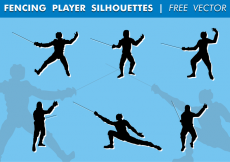 Free vector Fencing Player Silhouettes Free Vector #24783