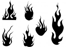 Free vector Fire And Flames Vector Set #24049