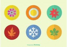 Free vector Flat Color Seasonal Vector Icons #23017