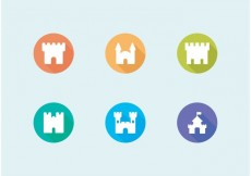 Free vector Flat Fort Vector Icons Set Free #27178