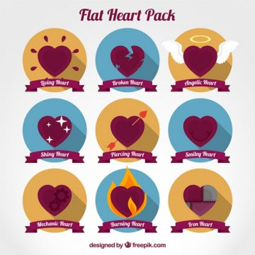 Free vector Flat hearts pack #25039