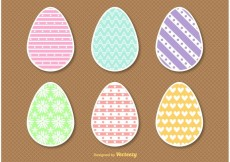 Free vector Flat Style Easter Egg Vectors #28081