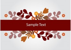 Free vector Floral Banner Vector Background #23932