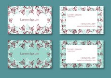 Free vector Floral business card #22288