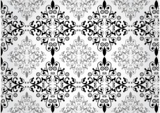 Free vector Floral Damask Vector Pattern #24076