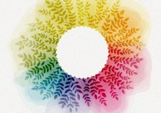Free vector Floral frame in watercolor style #20974