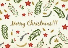 Free vector Floral merry christmas background #27047