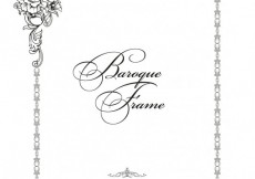 Free vector Floral ornamental frame in baroque style #24286