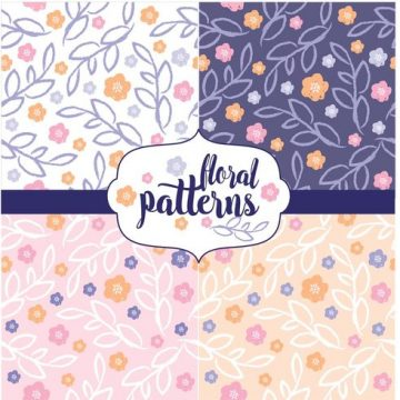 Free vector Floral Pattern Set #22642