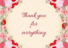 Free vector Floral thank you card #21218