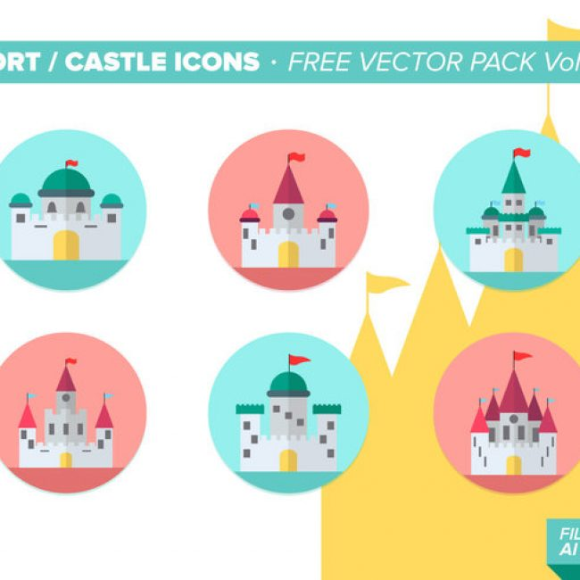 Free vector Fort Castle Icons Free Vector Pack Vol. 2 #20483
