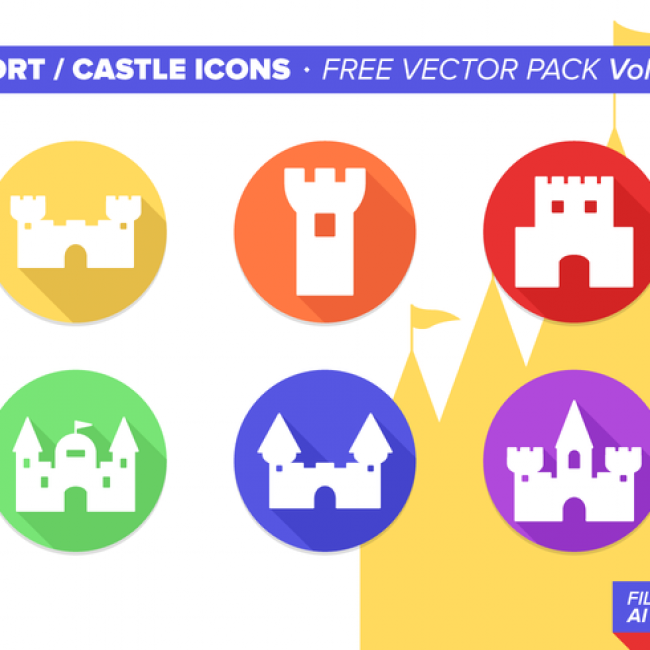 Free vector Fort Castle Icons Free Vector Pack Vol. 3 #25776