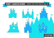 Free vector Fort Castle Icons Free Vector Pack Vol. 5 #24341