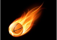Free vector Free Basketball On Fire Vector #23513