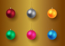 Free vector Free Christmas Baubles Vector #26153