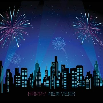 Free vector Free Cityscape With Fireworks Vector #27803