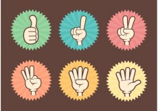Free vector Free Counting Cartoon Hands Vector #23820