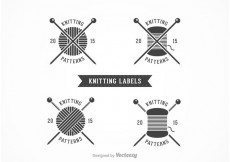 Free vector Free Knitting Vector Labels #23508