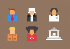 Free vector Free Law Office Vector Icons #9 #26228