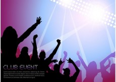 Free vector Free Night Music Club Life Vector Poster #21315