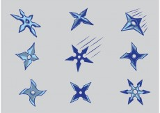 Free vector Free Ninja Throwing Stars Vectors #23959