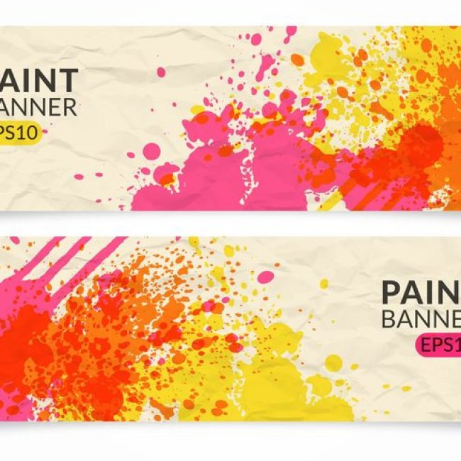 Free vector Free Paint Vector Banner Set #21731