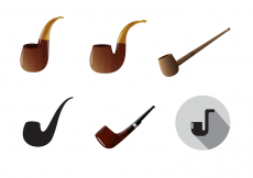 Free vector Free Tobacco Pipe Vector #25091