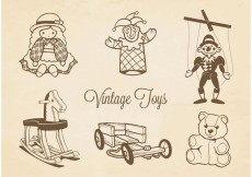 Free vector Free Vector Drawn Vintage Toys #23870