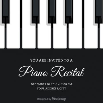 Free vector Free Vector Piano Recital Invitation #27018