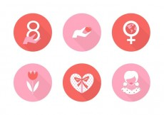 Free vector Free Women's Day Vector Icons #22785