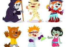 Free vector Funny halloween characters #24262
