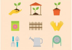 Free vector Gardening Vector Icons #27550