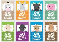 Free vector Get Well Soon Children Card Vectors #22037