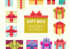 Free vector Gift boxes for party element #24792