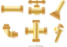 Free vector Gold Sewer Pipe Vectors #27835