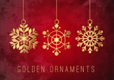 Free vector Golden snowflawes ornaments #20426
