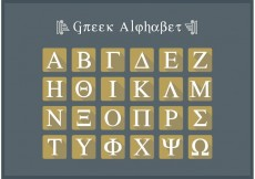 Free vector Greek Alphabet Flat Icon Letters Vector Free #22679